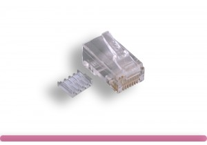 Cat. 6 Modular Plug Solid Wire 50U, with Load Bar
