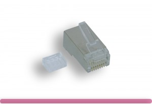 Cat. 6 Modular Shielded Plug Stranded Wire 50U, with Load Bar