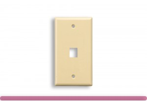 1-Port Wall Plate for Keystone Insert Ivory Color