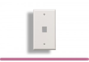 1-Port Wall Plate for Keystone Insert White Color