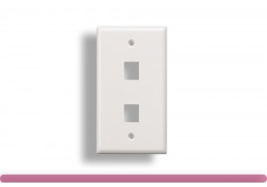 2-Port Wall Plate for Keystone Insert White Color