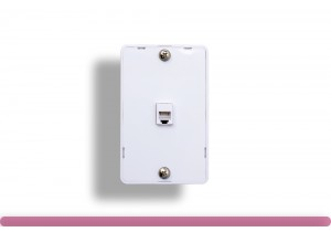1 Port Wall Plate with RJ-12 Jack, White Color