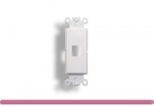 1-Port Decorator Wall Plate Insert White Color