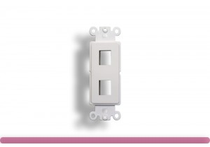 2-Port Decorator Wall Plate Insert White Color