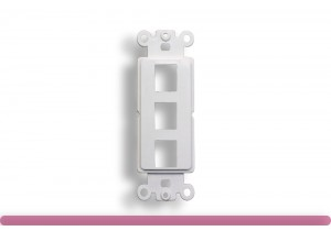 3-Port Decorator Wall Plate Insert White Color