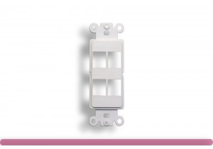 4-Port Decorator Wall Plate Insert White Color