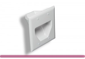 2-Gang Recessed Low Voltage Wall Plate