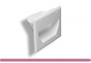 3-Gang Recessed Low Voltage Wall Plate