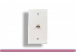 1 Port Wall Plate with F Connector White Color