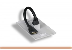 1-Port HDMI Wall Plate with Cable