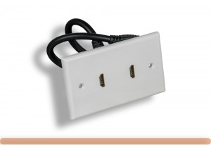 2-Port HDMI Wall Plate with Cable