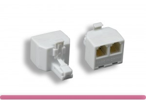 RJ-11 6P/4C 1 to 2 Modular T-Adapter