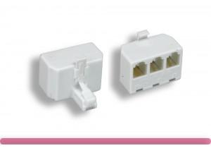 6P/4C 2 Line, L1/L2/L1+L2, Modular T-Adapter