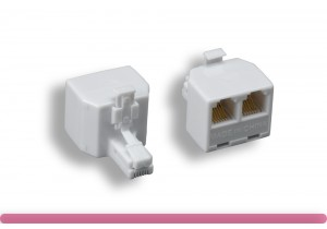 RJ-12 6P/6C 1 to 2 Modular T-Adapter