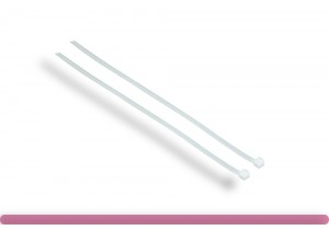12in 50lbs Cable Ties, White