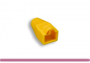 RJ45 Strain Relief Boot Yellow Color