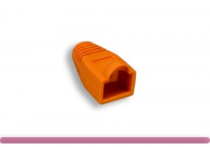 RJ45 Strain Relief Boot Orange Color