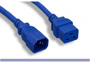 14 AWG Blue Color C14 / C19 Power Cord