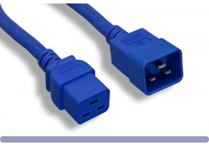 12 AWG Blue Color C20 to C19 Universal Jumper Power Cord