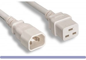 14 AWG White Color C14 / C19Power Cord
