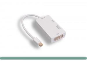 3 in 1 Mini DisplayPort to HDMI / DVI / VGA Adapter